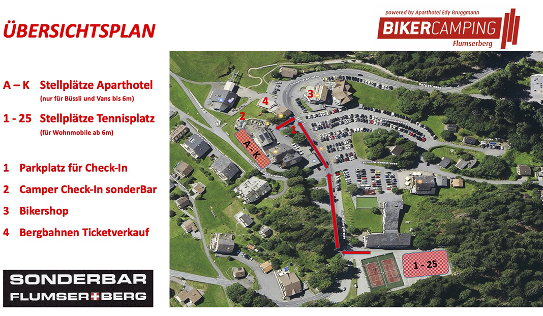 Stellplatz by BikerCamping Flumserberg